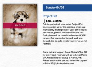 BizCom PR Pinot's Palette SPCA promotion