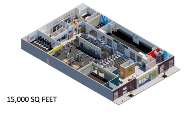 Gold's Gym 15K SF floor plan
