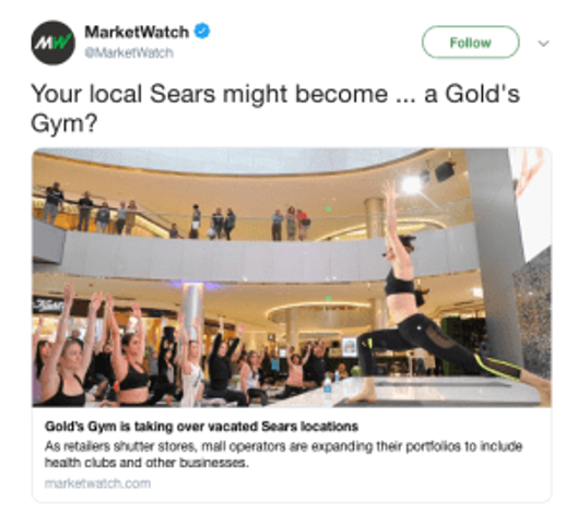 Gold's Gym Sears