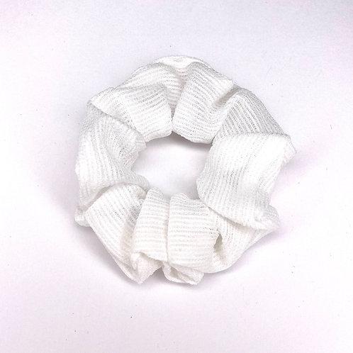 Mini White Scrunchie