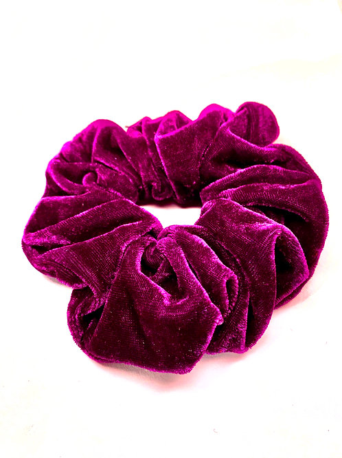 Mega Velvet Scrunchie - Purple