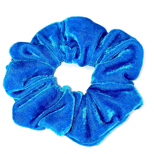Mega Velvet Scrunchie - Light Blue