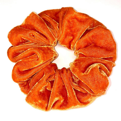 Mega Velvet Scrunchie - Orange
