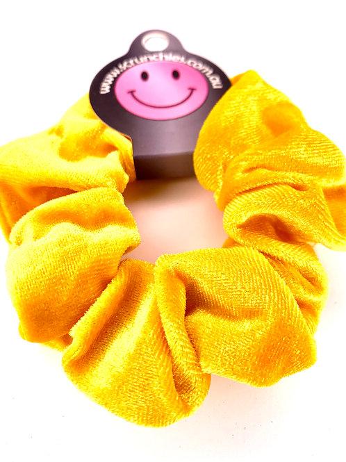 Mega Velvet Scrunchie - Yellow