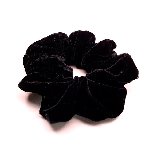 Mega Velvet Scrunchie - Black