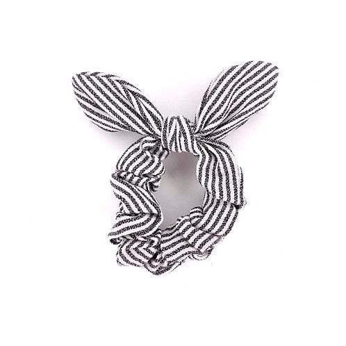 Bow Scrunchie - Silver