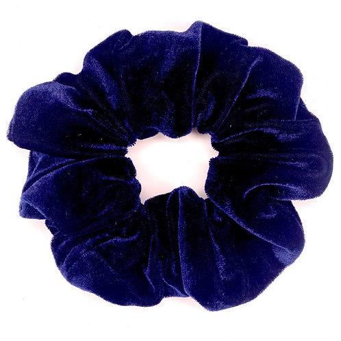 Mega Velvet Scrunchie - Navy Blue