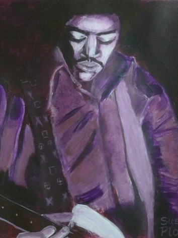 Jimi in purple haze