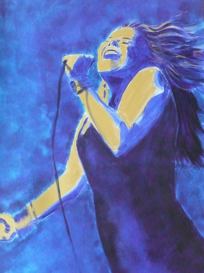 Janis in blue