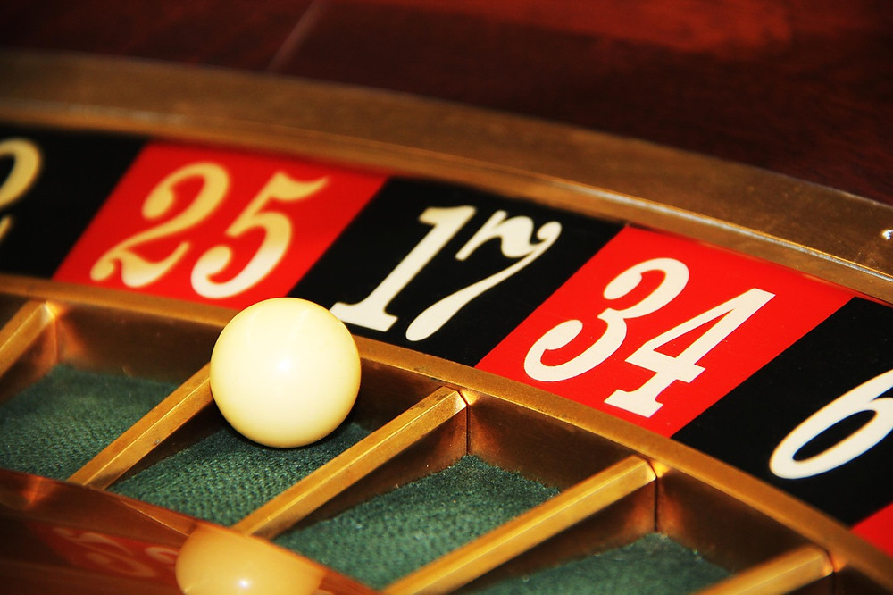 Roulette table.