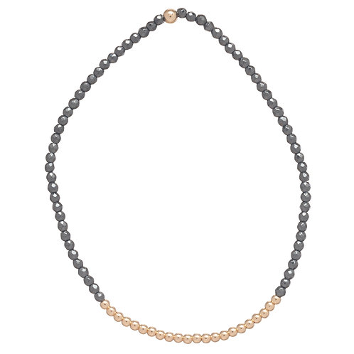 Faceted Hemitite Bliss 2mm Bracelet - Gold
