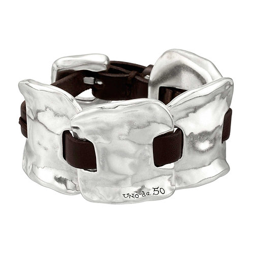 Inmortal Leather & Silver Bracelet