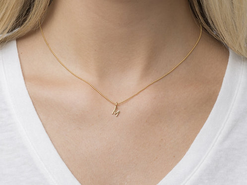 """16"""" Necklace Gold - Respect Gold Charm"""