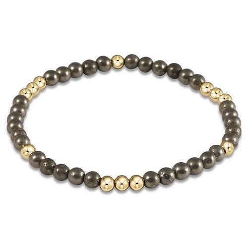 Worthy Pattern 4mm Bead Bracelet - Hemitite