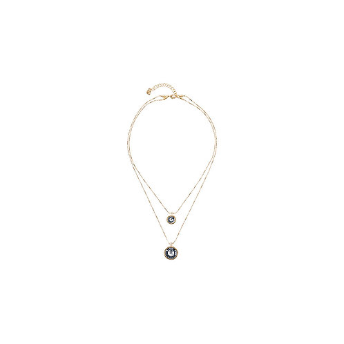 Double Trouble Necklace Gold