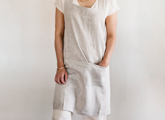 Crossback Apron in Natural