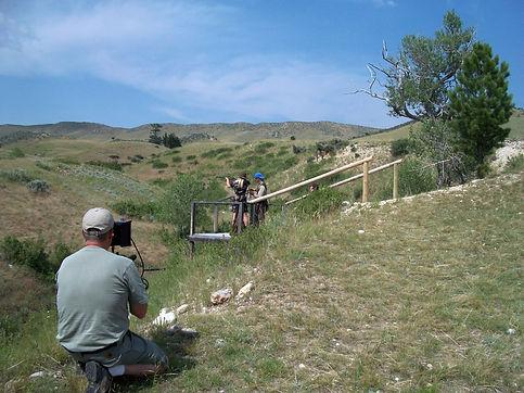 Longmire Katee Sackhoff being filmed by Dan Wierling of DGW Video Productions