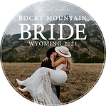 Rocky Mountain Bride Wyoming Badge