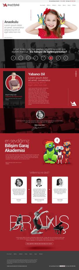 Atael Koleji Web Sayfası Tasarımı