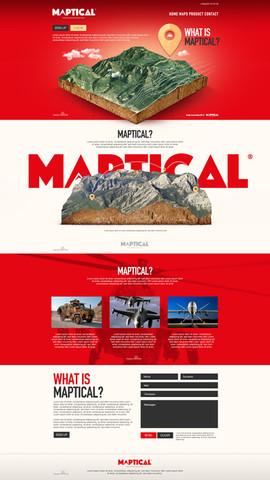 Maptical Web Sayfası Tasarımı