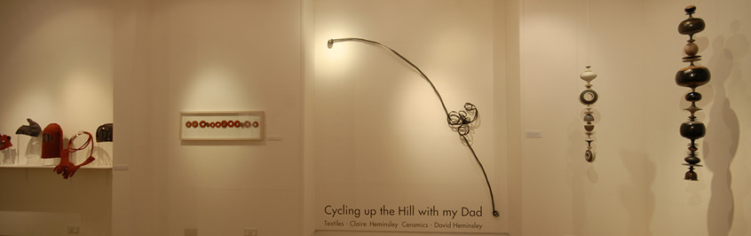 Cycling up the hill with my dad in St Andrews
