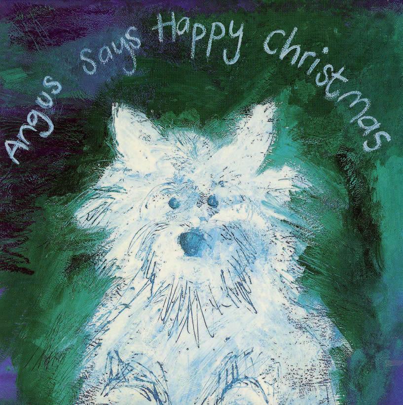 Angus says happy Christmas