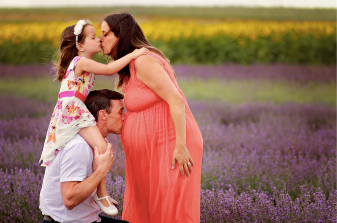 Family fun at the lavender field