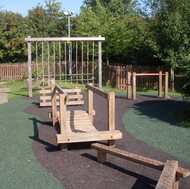 Trim Trail, scramble net and monkey bars.