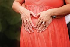 Heart maternity pose