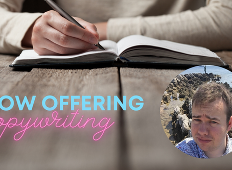 Now offering copywriting as part of our services!