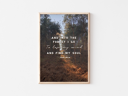 And Into The Forest I Go A4 Print