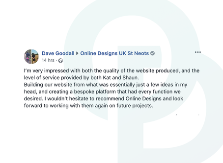 A lovely testimonial from EV Chargepoint Ltd!
