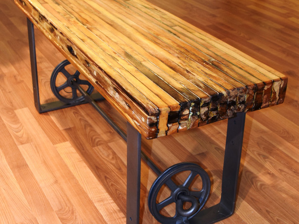 Bench from Repurposed Materials