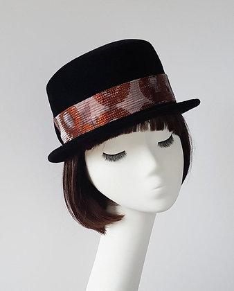 Fascia Intercambiabile Rame Argento per Cappelli JCN, Stile Neo Romantico