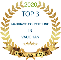Award badge for 2020 Top 3 Marriage Counselling in Vaughn