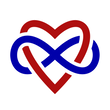 Polyamory woven heart and infinity sign logo