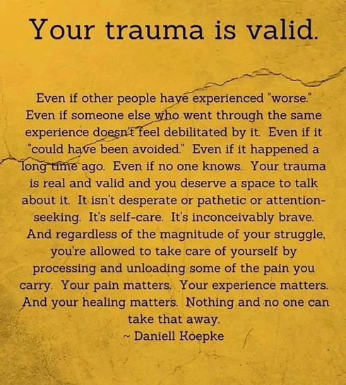 Your Story Counselling Quotes on Trauma.
