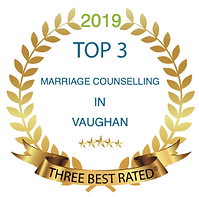Award badge for 2019 Top 3 Marriage Counselling in Vaughn