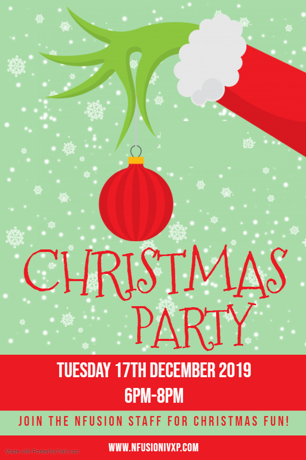 Copy of Christmas Grinch Party Poster -