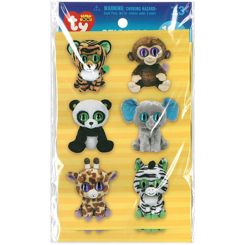 Beanie Boos Stickers - Jungle
