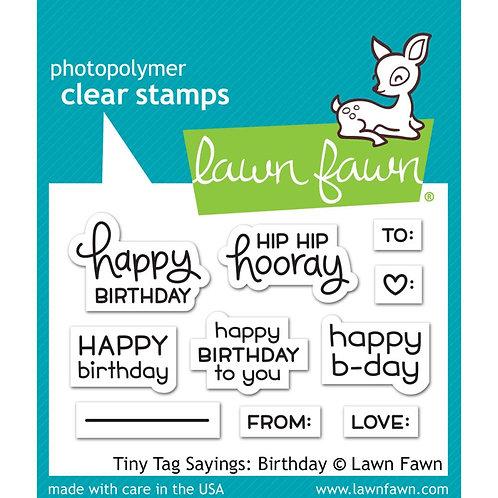 Tiny Tag Sayings:  Birthday Stamp