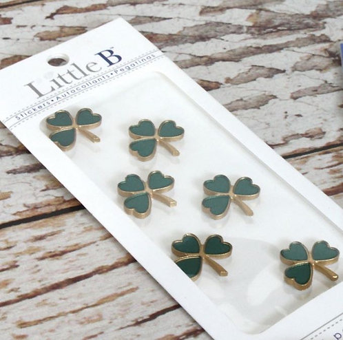 Little B - Green & Gold Shamrock