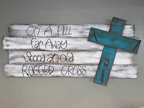 Large Rugged Cross (Handwritten)