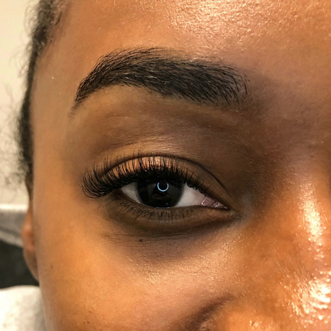 Classic Lash Extensions and Brow Thread and Tint