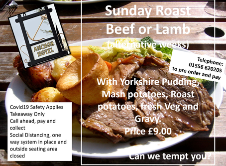 Sunday Roast - Book Now - Just £9