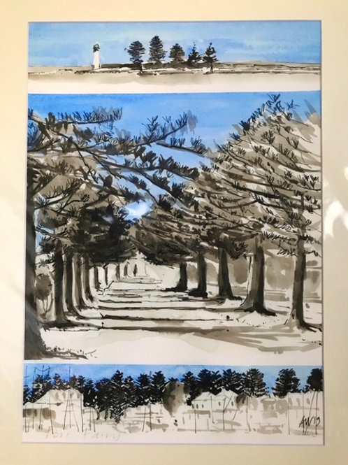 Port Fairy print by Angela Williams