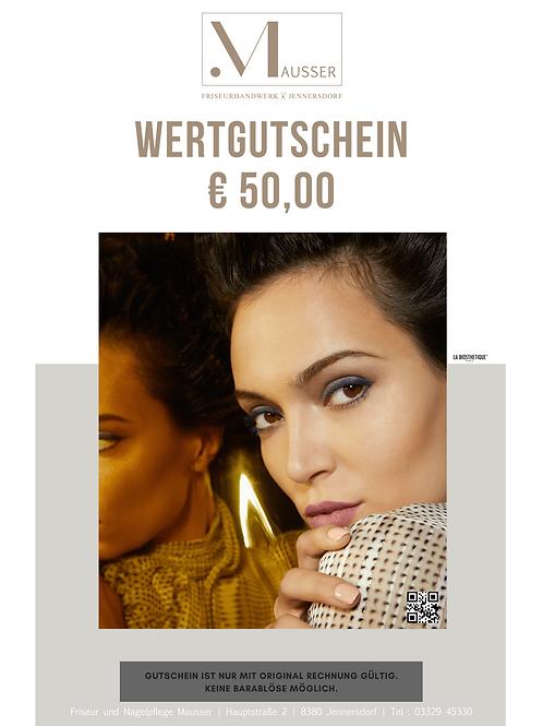 Wertgutschein € 50,00