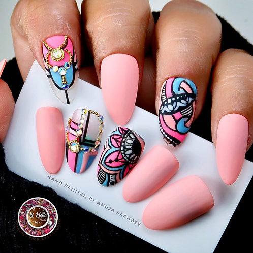 Designer press on nails