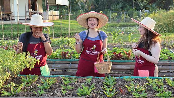 organic garden tour