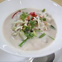tom ka gai Bees Garden Cooking School Chiang mai